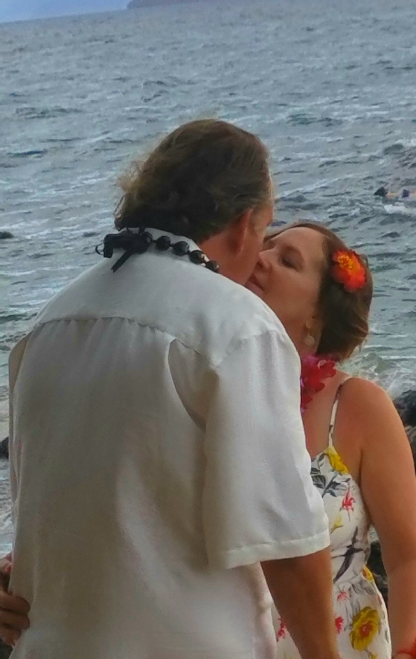 Vow Renewal Kiss