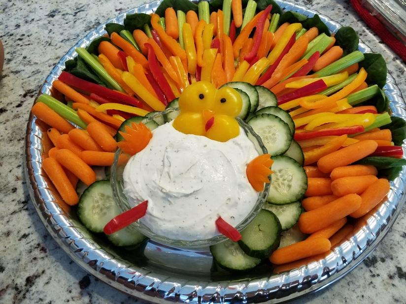 Turkey Veggie Tray - finished