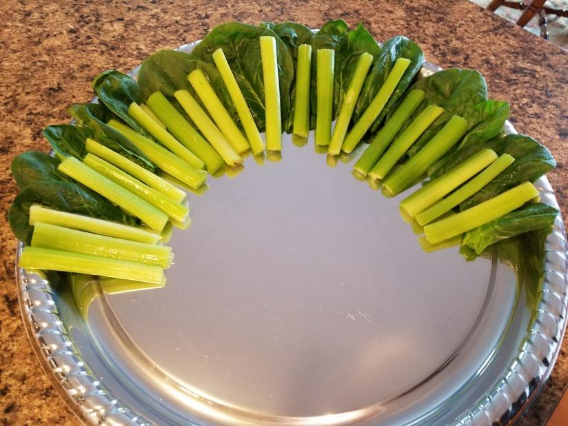 Turkey Veggie Tray - lettuce celery feathers
